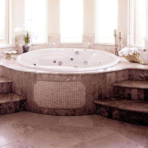 hydromassage bathtub hawaii   round style   awal bath systems